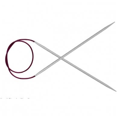 Aliuminiai virbalai su valu (80cm) KnitPro basix