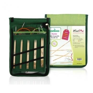 Prisukamų bambukinių virbalų rinkinys KnitPro Bamboo Starter